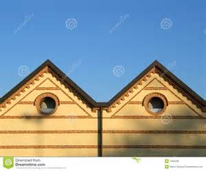 Double Hip Roof Double Hip Roof And Bricks Royalty Free Stock Photos