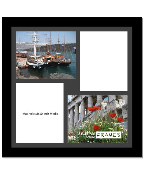 10 X 20 Fram With 2 Mat by Creativepf 4 Opening Multi 8x10 White Picture Frame W