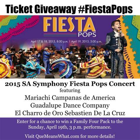 San Antonio Giveaways - giveaway 2015 san antonio symphony annual fiesta pops concert fiestapops