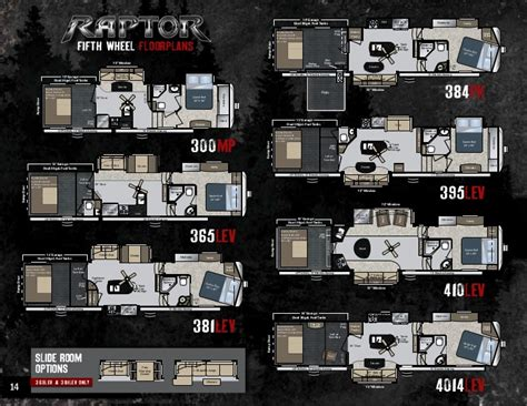 Keystone Raptor Floor Plans by 2012 Keystone Raptor Toy Haulers