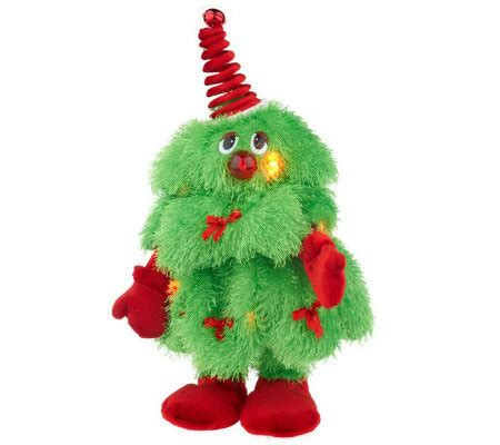 dancing christmas tree picture singing plush tree page 1 qvc