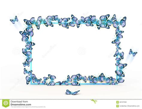 colorful butterflies border design on the white background