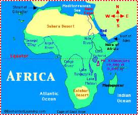 africa map rivers lakes mountains africa map zoomschool