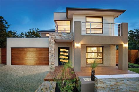 house design news image result for box style facades double storey home