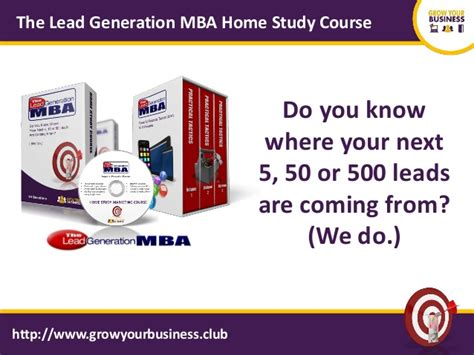 Mba Home Show 2017 by 2017 Lead Generation Mba Home Study Marketing Course