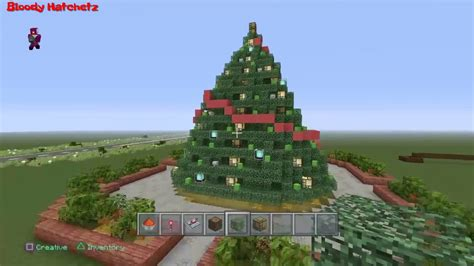 minecraft working christmas tree tutorial youtube