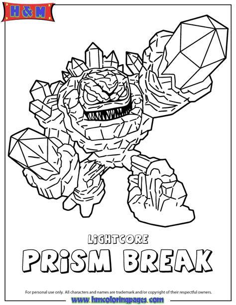 free coloring pages of skylander prism break