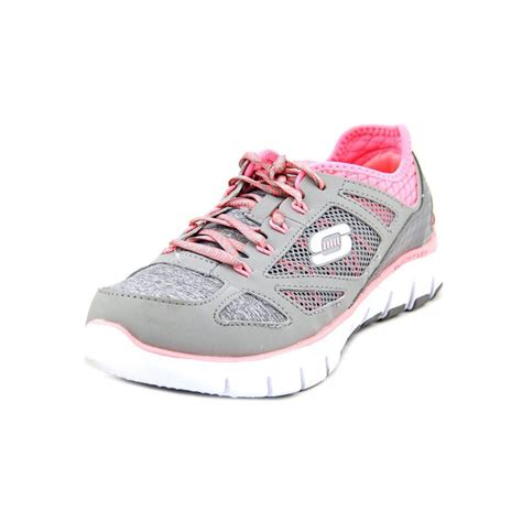 grey athletic shoes skechers skechers style source womens textile gray running