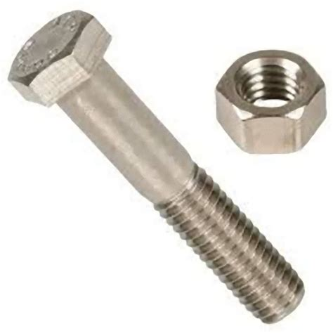 Nut Bold high tensile metric hexagon bolt zinc plated inc nut and