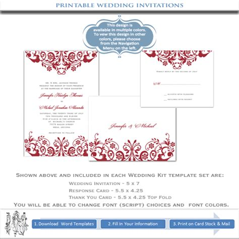 wedding invitations printable templates printable wedding invitations templates diy stationery