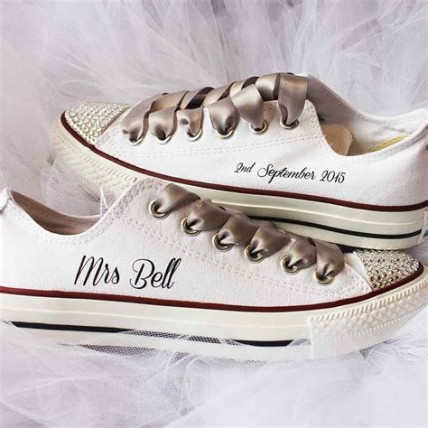 Wedding Shoes Converse by Custom Wedding Converse By Nappy