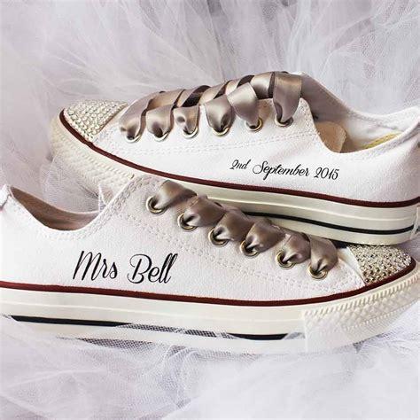 bride custom wedding converse by nappy head