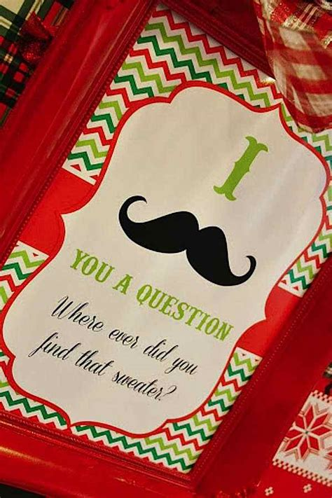 ugly christmas party ideas rewards kara s ideas sweater mustache planning ideas