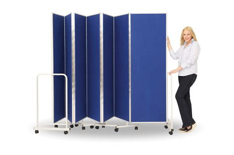 wall on wheels partition screens school room divider