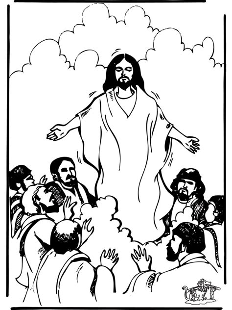 bible coloring pages jesus ascension ascension 1 new testament