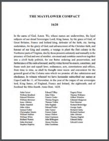 the mayflower compact 1620 free printable version