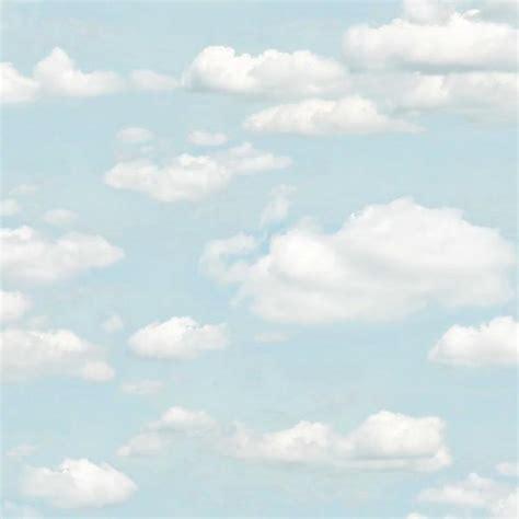 brewster bath blue clouds wallpaper sample  sam