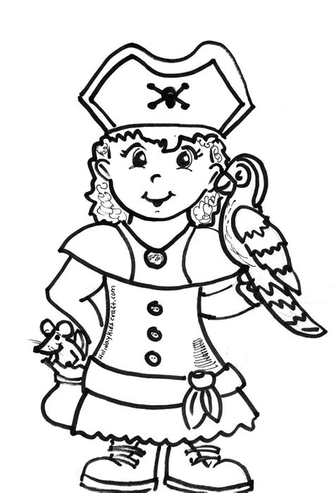 Girl Pirate Coloring Page Pirates Princesses Story Pirate Coloring Pages Printable