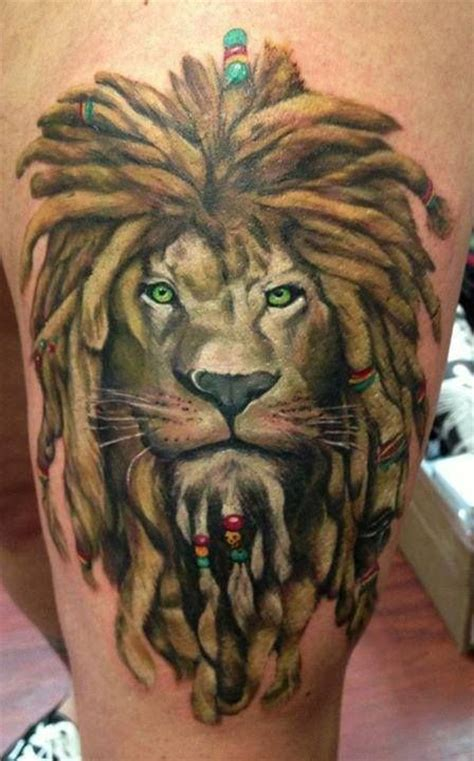 rasta lion tattoo tattoo designs