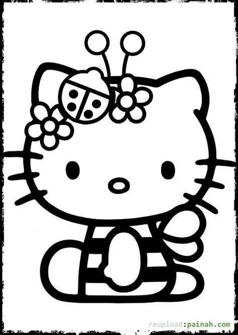 coloring pages more images hello kitty 12 hello kitty ladybug coloring pages kids coloring page