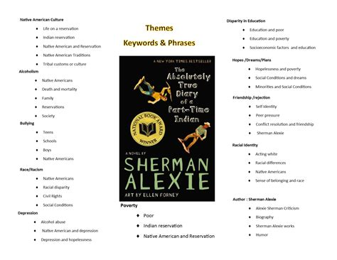 themes indian education sherman alexie the absolutely true diary of a part time indian reading