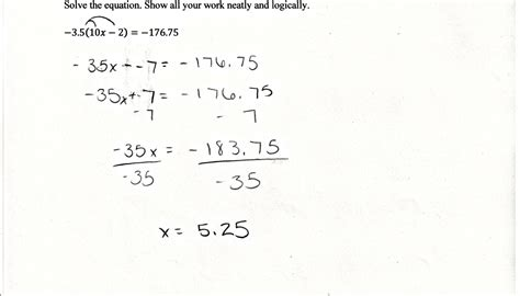 diagram solving equations linear equations students are asked to solve a equation