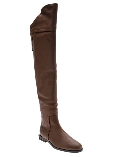 above knee boots maiyet the knee boot in brown lyst