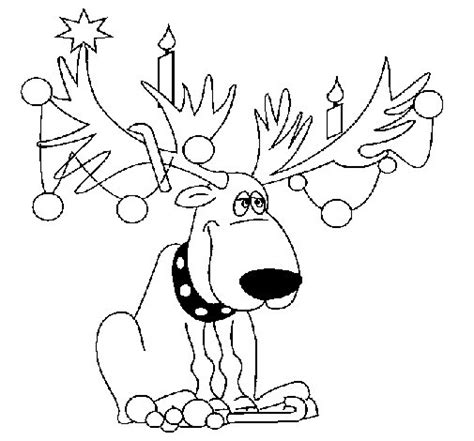 dibujos navideños para pintar renos dibujo de reno decorado para colorear dibujos net