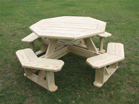 plans for octagon picnic tables free discover