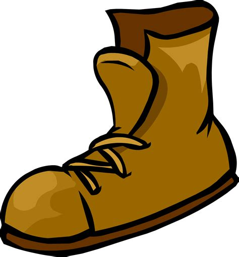 cartoon boat brown boots clipart brown objects pencil and in color boots
