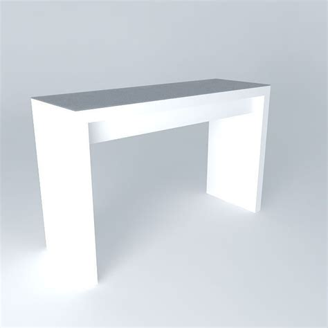 Malm Dressing Table White Free 3d Model Max Obj 3ds Malm Desk White