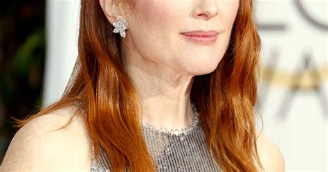 julianne moore hair colour from the drug store julianne moore s radiant complexion golden globes 2015