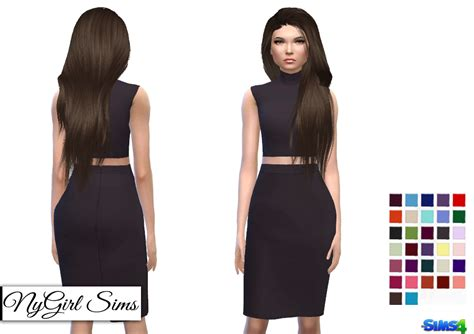 Teen Boy Rugs Nygirl Sims 4 Turtleneck Bodycon Two Piece Dress
