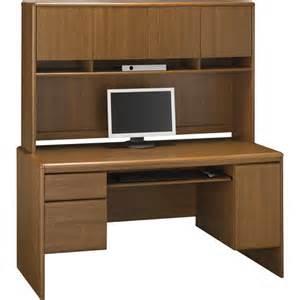 Bush Computer Desk With Hutch Bush Northfield 54 Quot Credenza Computer Desk With Hutch Dakota Oak Walmart