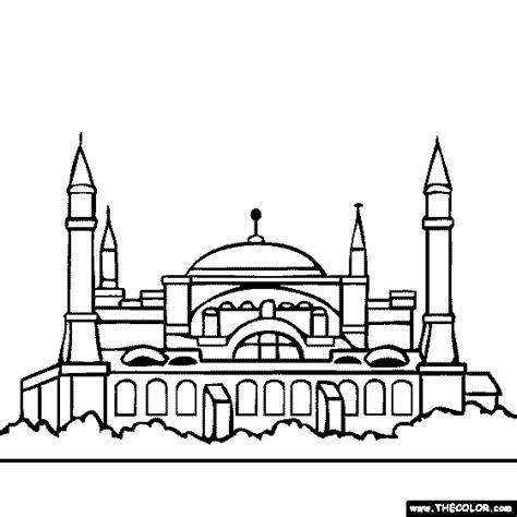 hagia sophia istanbul turkey coloring page coloring 2