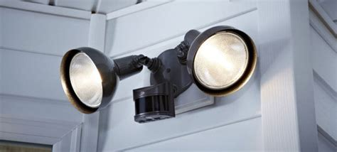 install outdoor garage lights install a motion detector