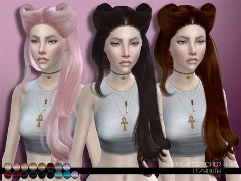 sims 4 hair dreamcatcher hair by leahlillith at tsr 187 sims 4 updates