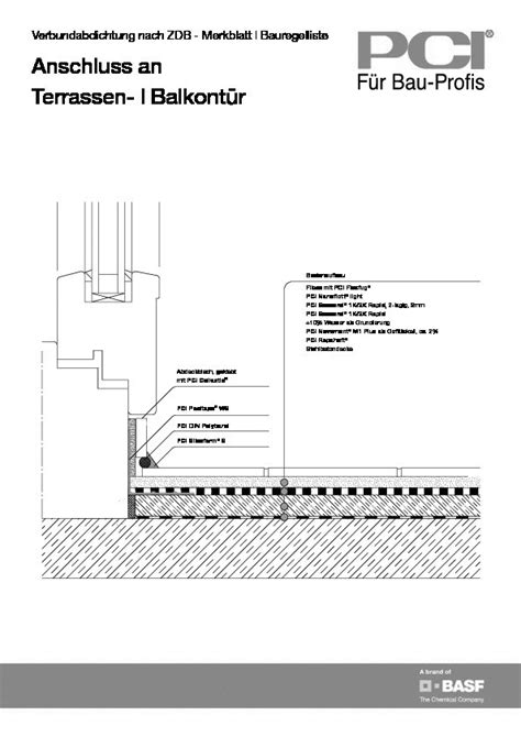 Terrasse Detail by Cad Detail Verbundabdichtung Anschluss An Terrassen
