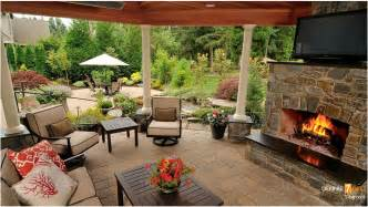 Covered outdoor living spaces with fireplace small inexpensive outdoor
