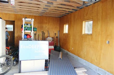 Plywood Garage Walls by Ecodeep Haus The Much Anticipated Garage