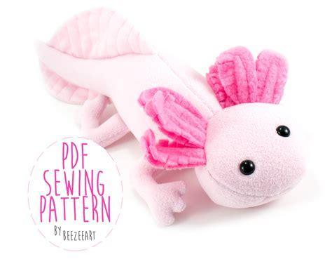 plush toy pattern design software axolotl stuffed animal sewing pattern plush toy pattern pdf