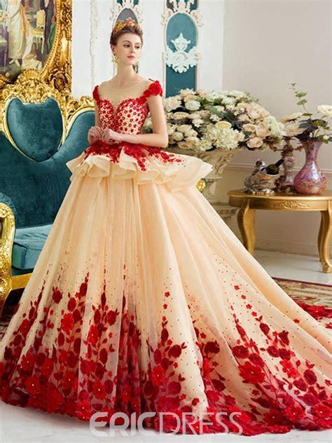 wedding dresses color ericdress amazing scoop gown color wedding dress