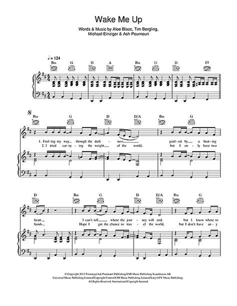 tutorial piano wake me up wake me up sheet music by avicii piano vocal guitar