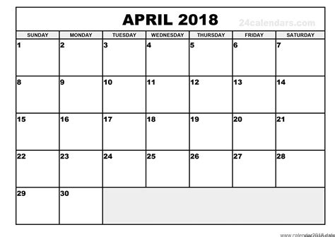 printable calendars by day free printable calendar april 2018 free printable