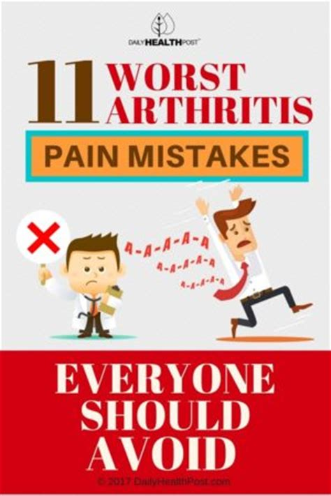 Worst Dating Mistakes by 11 Worst Arthritis Mistakes Everyone Should Avoid