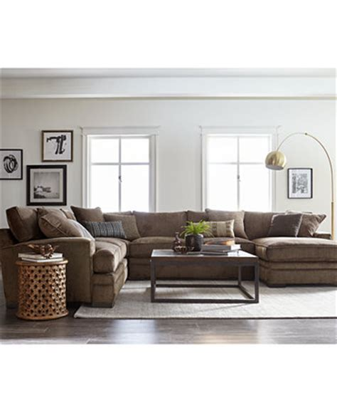 Teddy Fabric Sectional Living Room From Macys Misc Home | teddy fabric sectional living room furniture collection