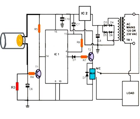 remote light switch circuit diagram image gallery laser light diagram