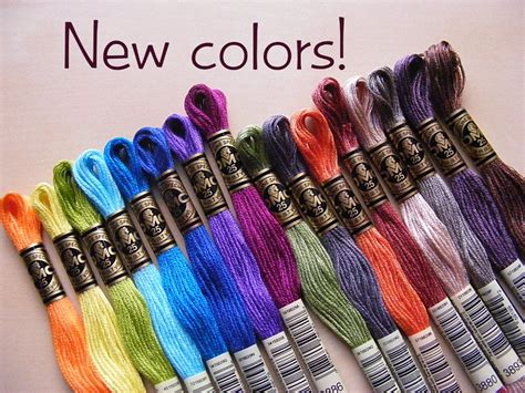 new colors for 2017 new dmc thread colors a finished stitches prize shiny