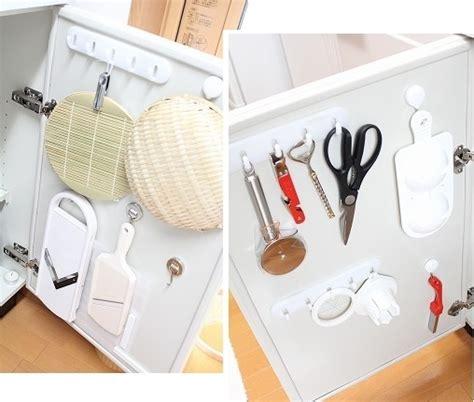 inside kitchen cabinet door storage how to organize a small japanese kitchen blog