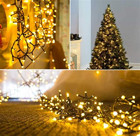 memory wire 4 12 ft christmas tree lights 300 led warm white tree lights indoor and outdoor use string